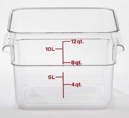 12 Quart Square Polycarbonate Clear Storage Container