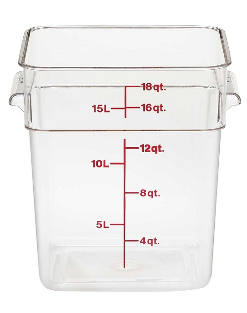 18 Quart Square Polycarbonate Clear Storage Container