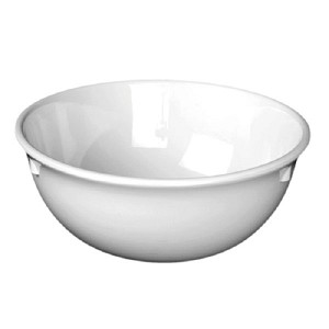"11oz 4-7/8"" Nappie Bowl Melamine Nustone White (each)"
