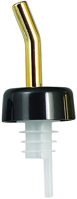 Whiskey Free Flow Pourer Golden Spout Black Collar (dz)
