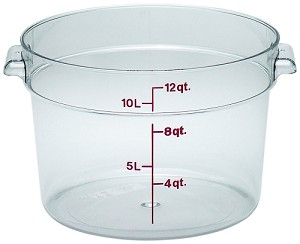 12 Quart Camwear Polycarbonate Round Food Storage Container