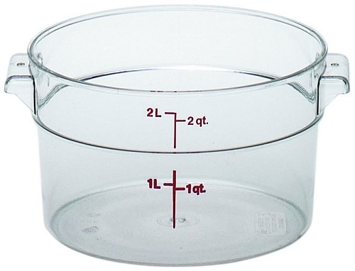 2 Quart Camwear Polycarbonate Round Food Storage Container