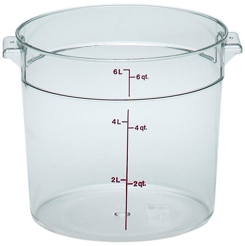6 Quart Camwear Polycarbonate Round Food Storage Container