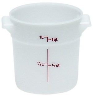 1 Quart Poly Round Food Storage Container