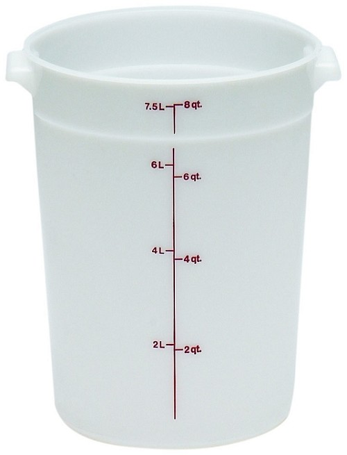 8 Quart Poly Round Food Storage Container