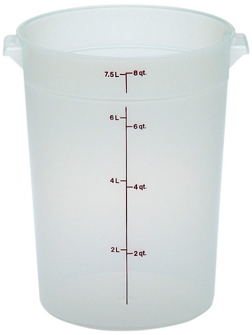 8 Quart Transslucent Round Food Storage Container