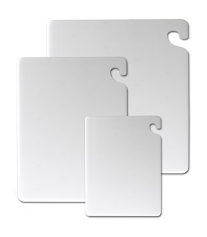 "Cut -N- Carry 12"" x 18"" x 1/2"" White Cutting Board"