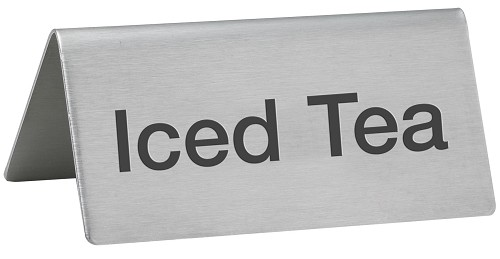 Iced Tea Beverage Sign Stainless