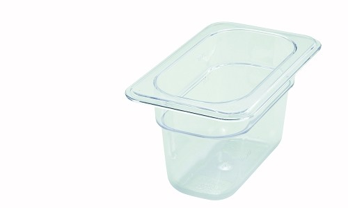Ninth Size ( 1/9 ) Polycarbonate Food Pan Clear 4