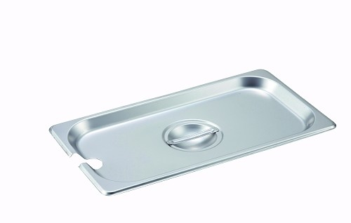 Third size Stainless Steam Table Pan Cover Slotted