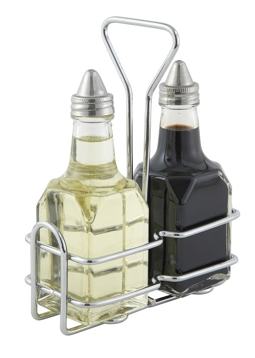 6oz Square oil & Vinegar Cruet Holder