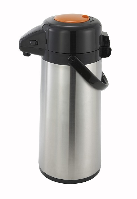 2.5 Liter Decaf Glass Lined Stainless Body Push Button Air Pot