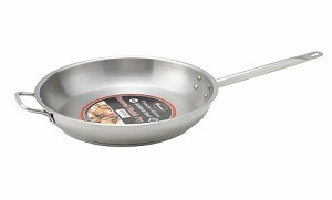 "12"" Stainless Steel Induction Ready Fry Pan w/ Helper handle"