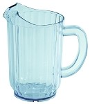 32 Ounce Clear Water Pitcher San Plastic 4 Pack