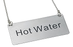 Hot Water Beverage Chain Sign Stainless