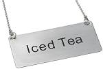 Iced Tea Beverage Chain Sign Stainless